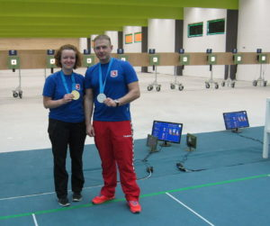 Eva Friedel (GER) and Peter Sidi (HUN) shooting sharp in WC Maribor