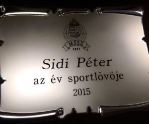 Peter Sidi  – Shooter of the year in Hungary!