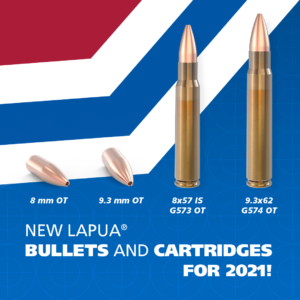 New Open Tip bullets and factory-loaded cartridges by Lapua