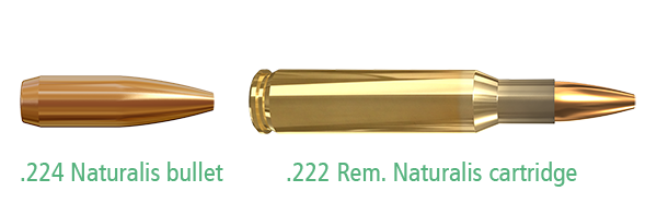 .224 Naturalis bullet and .222 Rem. Naturalis cartridge